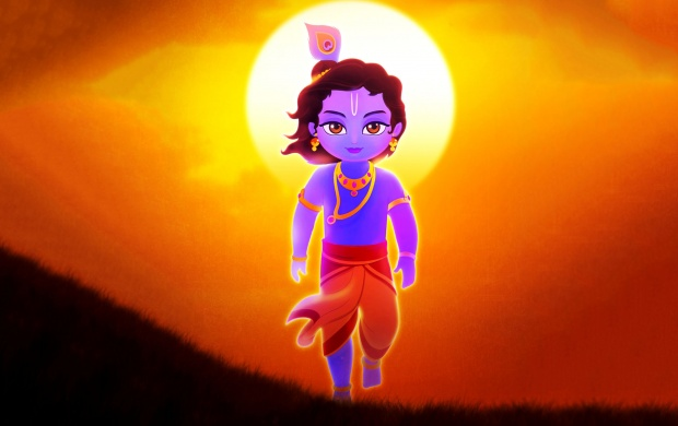 lord krishna animated images
